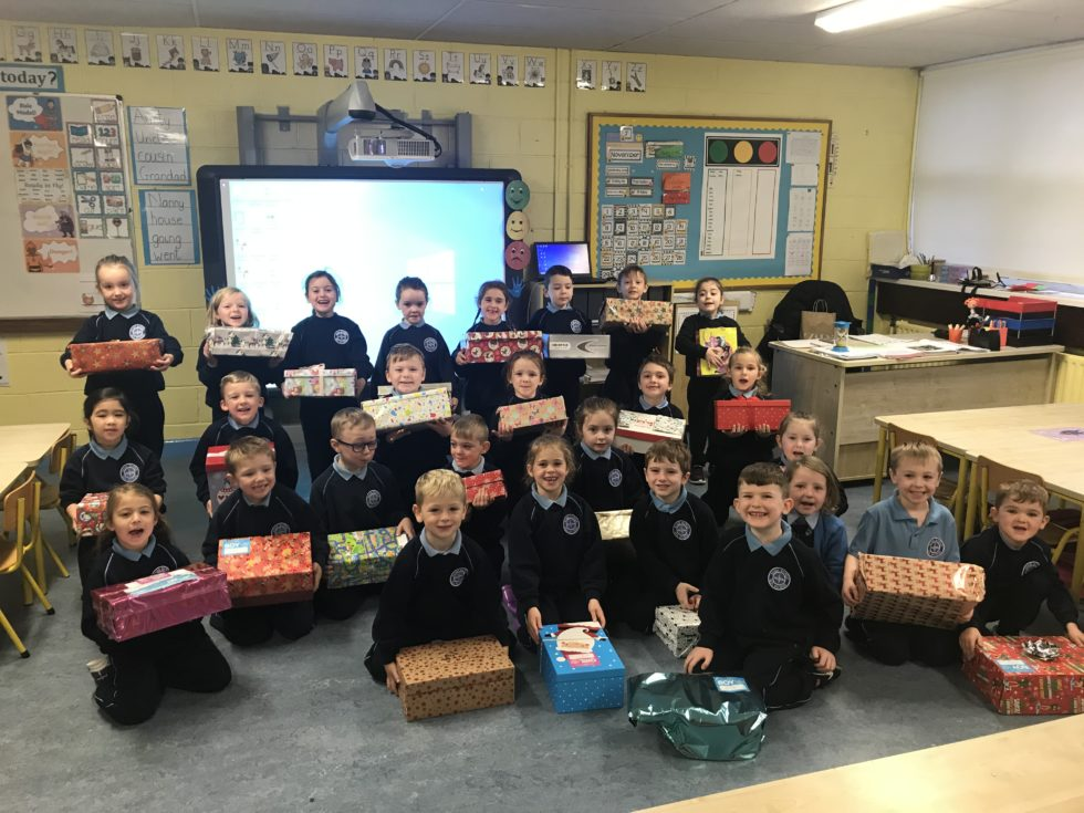 Team Hope shoeboxes for Christmas