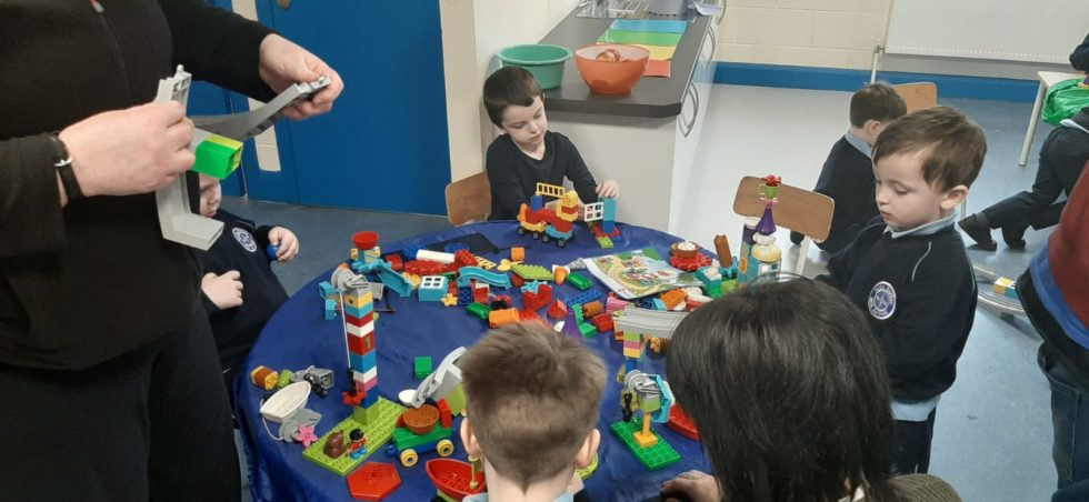 Lego workshops with the children from rooms 3 & 7